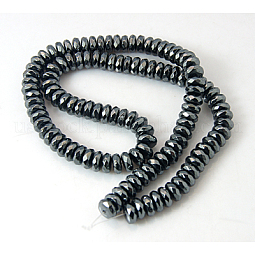 Non-Magnetic Synthetic Hematite Beads Strands US-G-Q422