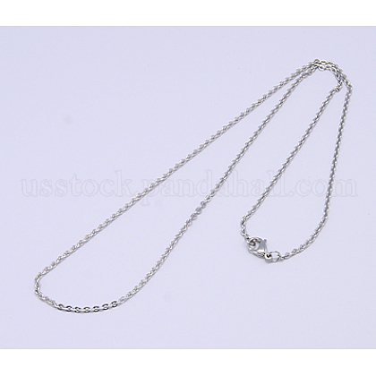 Classic Plain 304 Stainless Steel Mens Womens Necklaces Unisex Cable Chain NecklacesUS-NJEW-507L-7-1