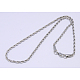 304 Stainless Steel Necklaces Unisex Rope Chain NecklacesUS-NJEW-507L-10-1