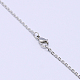 Classic Plain 304 Stainless Steel Mens Womens Necklaces Unisex Cable Chain NecklacesUS-NJEW-507L-7-2