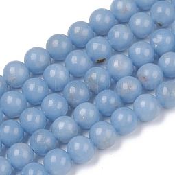 Natural Angelite Beads Strands US-G-G840-03-8mm