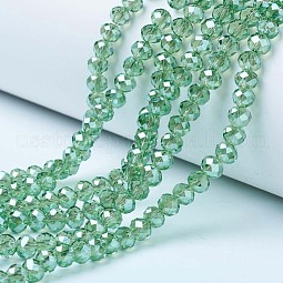 Electroplate Glass Beads Strands US-EGLA-A034-T6mm-A15
