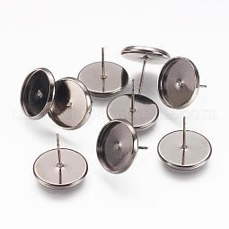 Brass Ear Studs Settings US-IFIN-Q005-B