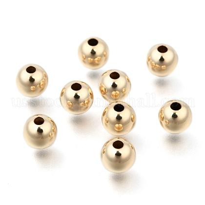 Yellow Gold Filled BeadsUS-KK-G156-6mm-1-1