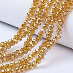 Electroplate Glass Beads Strands US-EGLA-A034-T10mm-A04