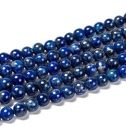 Natural Lapis Lazuli Bead Strands US-G-G953-01-8mm