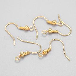 Golden Brass Earring Hooks Ear Wire Hooks with Ball US-X-KK-Q261-5