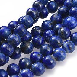 Natural Lapis Lazuli Bead Strands US-G-G953-01-6mm
