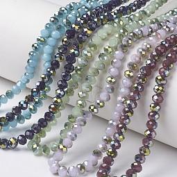 Electroplate Glass Beads Strands US-EGLA-A034-J6mm-S