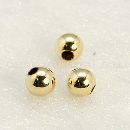 Yellow Gold Filled BeadsUS-KK-G156-3mm-1-1