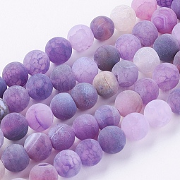 Natural Weathered Agate Beads Strands US-G-G589-8mm-06