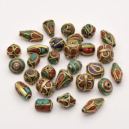 Handmade Tibetan Style BeadsUS-TIBEB-G001-M2-1