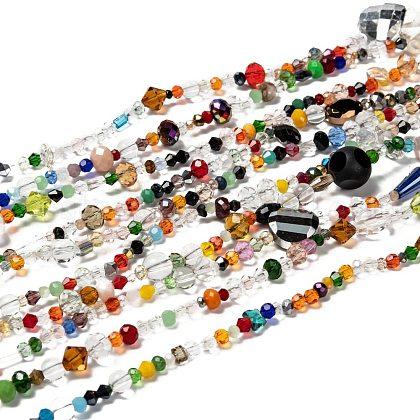 Mixed Electroplate Glass Beads StrandsUS-EGLA-A003-01-1