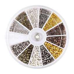 Brass Crimp Beads Covers and Crimp Beads US-KK-TA0007-02
