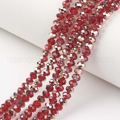 Electroplate Transparent Glass Beads StrandsUS-EGLA-A034-T8mm-N12-1