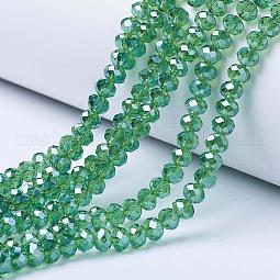 Electroplate Glass Beads Strands US-EGLA-A034-T6mm-A10