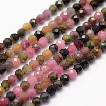 Natural Tourmaline Beads StrandsUS-G-F460-51-1