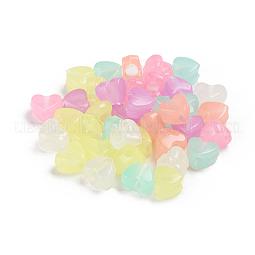 Luminous Acrylic Beads US-TACR-WH0002-13