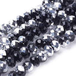 Electroplate Glass Beads Strands US-GR8MMY-27S