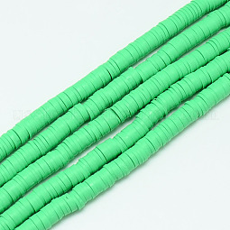 Handmade Polymer Clay Bead Strands US-CLAY-T002-6mm-09