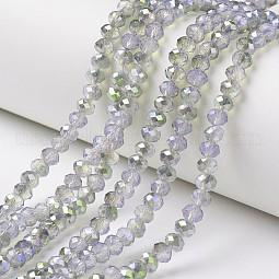Electroplate Glass Beads Strands US-EGLA-A034-J10mm-S07