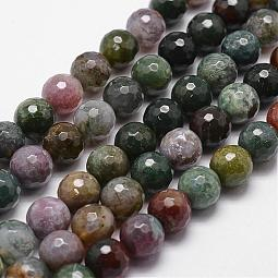 Natural Indian Agate Beads Strands US-G-D840-51-6mm