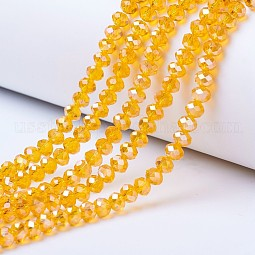Electroplate Glass Beads Strands US-EGLA-A034-T8mm-B01