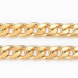 Vacuum Plating 304 Stainless Steel Cuban Link Chains US-CHS-H009-14G