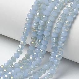 Electroplate Glass Beads Strands US-EGLA-A034-J10mm-H06