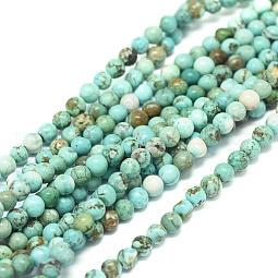 Natural Howlite Beads Strands US-G-L555-02-4mm
