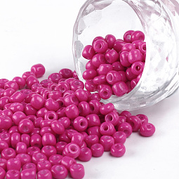Baking Paint Glass Seed Beads US-SEED-S003-K24