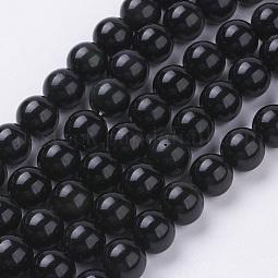 Natural Obsidian Beads Strands US-G-G099-10mm-24