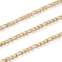 Vacuum Plating 304 Stainless Steel Figaro Chains US-CHS-H007-30G