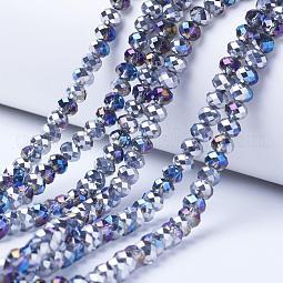 Electroplate Transparent Glass Beads Strands US-EGLA-A034-T10mm-Z03