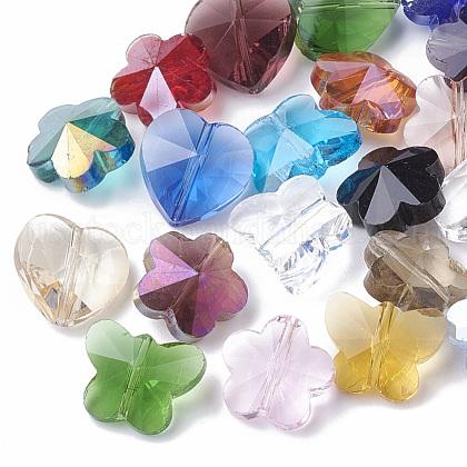 Transparent Glass BeadsUS-GLAA-Q067-01-1