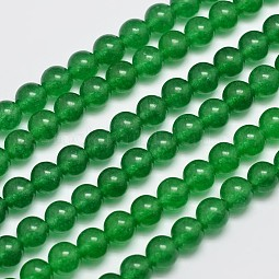 Natural & Dyed Malaysia Jade Bead Strands US-G-A146-8mm-A06