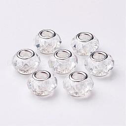 Handmade Glass European Beads US-GPDL25Y-1