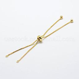 Rack Plating Brass Chain Bracelet Making US-KK-A142-018G