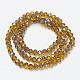 Electroplate Glass Beads StrandsUS-EGLA-A034-T6mm-I17-2