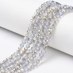 Electroplate Glass Beads Strands US-EGLA-A034-J10mm-E02