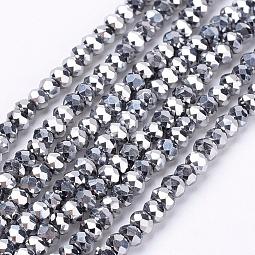 Electroplate Glass Bead Strands US-EGLA-R080-2mm-04