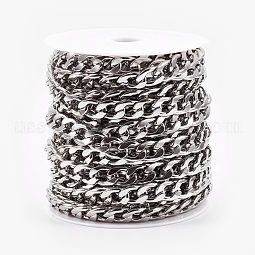 304 Stainless Steel Cuban Link Chains US-CHS-E013-17C