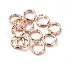 Eco-Friendly Vacuum Plating & Long-Lasting Plated Brass Open Jump Rings US-X-KK-E663-5mm-RG