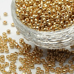 8/0 Electroplate Glass Seed Beads US-SEED-Q004-1