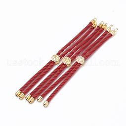 Nylon Twisted Cord Bracelet Making US-MAK-T003-07G