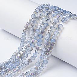 Electroplate Glass Beads Strands US-EGLA-A034-J10mm-F03