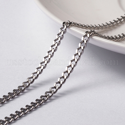 Vacuum Plating 304 Stainless Steel Twisted ChainsUS-CHS-H007-48P-1