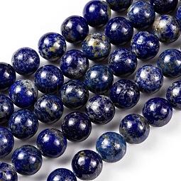 Natural Lapis Lazuli Round Beads Strands US-G-I181-09-10mm